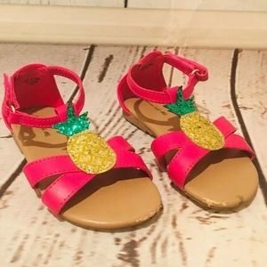 American Eagle AE Toddler Sandals 7 Pineapple Pink